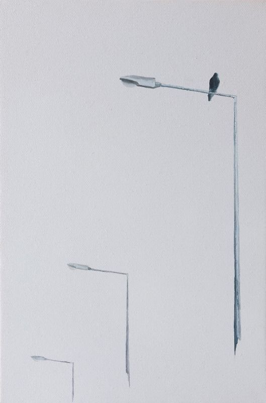 Artist: Zoltán Béla - Fall (2011), 30 x 20 cm, oil on canvas