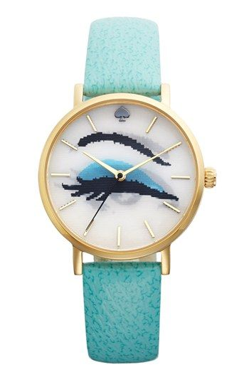 kate spade new york 'metro' hologram dial watch, 34mm available at #Nordstrom