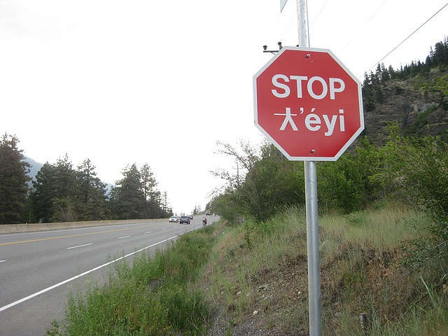 Anyone identify this First Nation language? It's somewhere in the Fraser Valley between Hope and Lytton. St'át'imc? Written in Halq'eméylem?