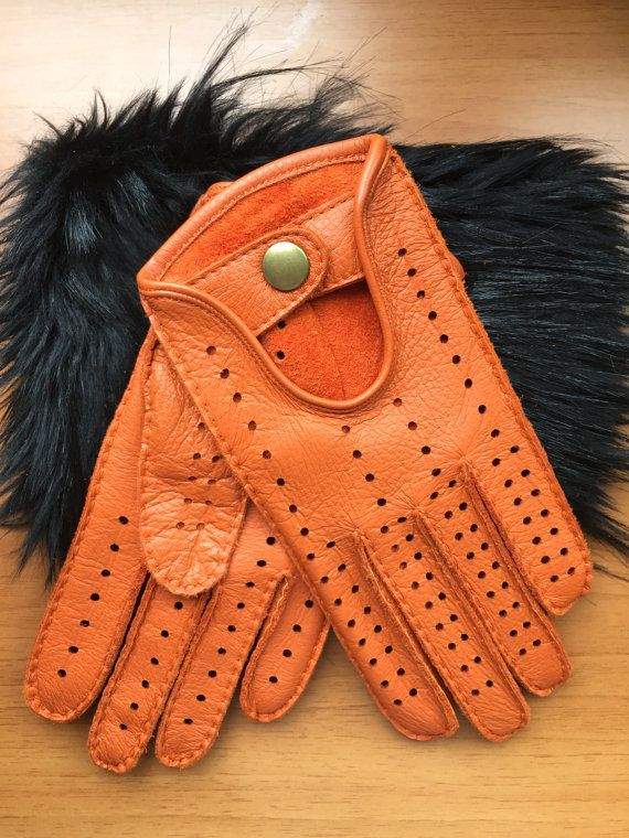 Men's Handsewn  deerskin Leather Gloves,elegant style,Driving gloves,italian leather gift, sewn manually with,leather goods,Christmas gift.