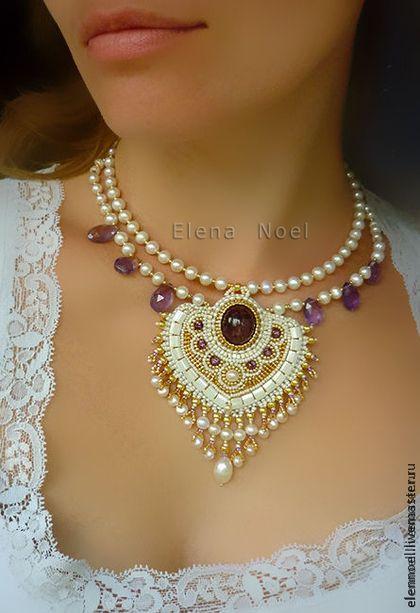 "Necklaces, handmade beads.  Fair Masters - handmade.  Buy Necklace ""Aurum"".  Handmade.  Gold, tourmaline, natural stones"