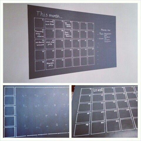 DIY krijtbord www.houseofsyl.nl