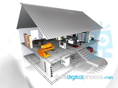 Blueprint model house