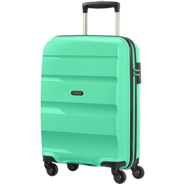 American Tourister Bon Air 4-Wheel Spinner Cabin Case ($105) ❤ liked on Polyvore featuring bags and luggage
