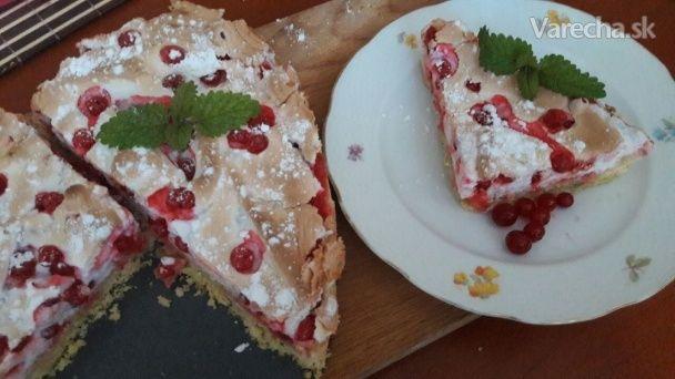 Ríbezľový koláč so snehom (fotorecept) - Recept