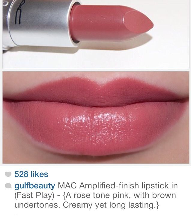 MAC amplified finish lipstick in fast play