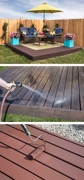 how to build a floating deck the home depot pallet patiodiy - Patio Ideas Diy
