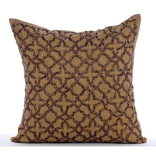 Handmade Gold Throw Pillow Covers, Beaded Lattice Trellis... https://www.amazon.com/dp/B016H8VYCG/ref=cm_sw_r_pi_dp_x_W1J9xbZNDVF9R