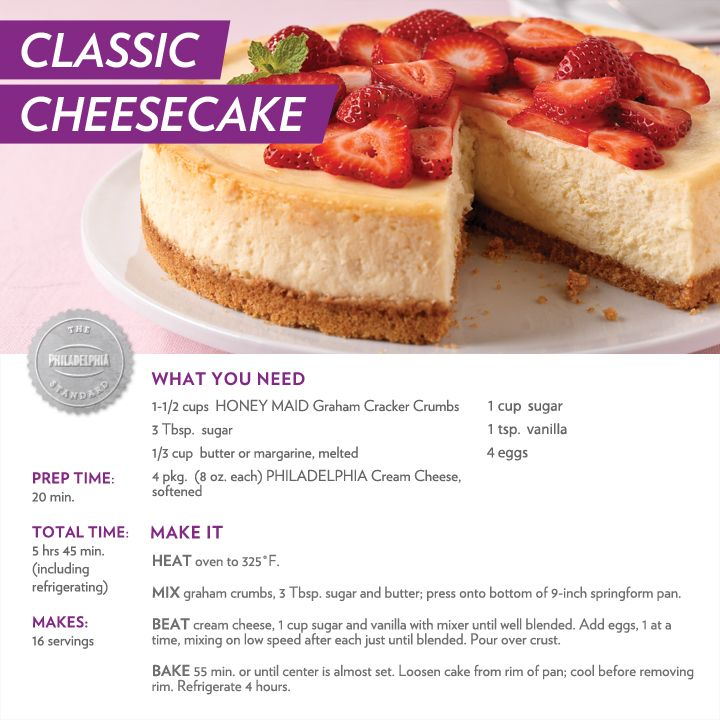 Classic Cheesecake Recipe — Dishmaps