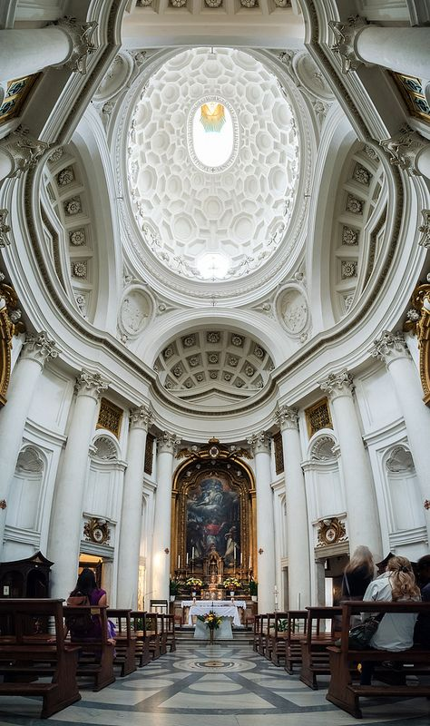 Photo by Jose Garrido, 88. San Carlo alle Quattro Fontane. Rome, Italy. Francesco Borromini (architect). 1638–1646 C.E. Stone and stucco.