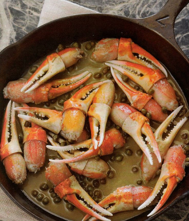 Seasoned snow crab claws sautéed in a mixture of white wine, capers, lemon juice, and butter