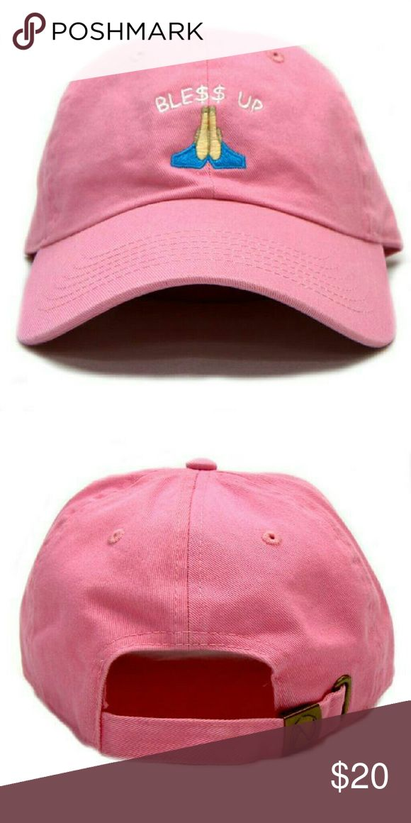 Bless Up dad cap - Pink New Ble$$ Up dad hat strapback street wear urban clothing limited dope Accessories Hats
