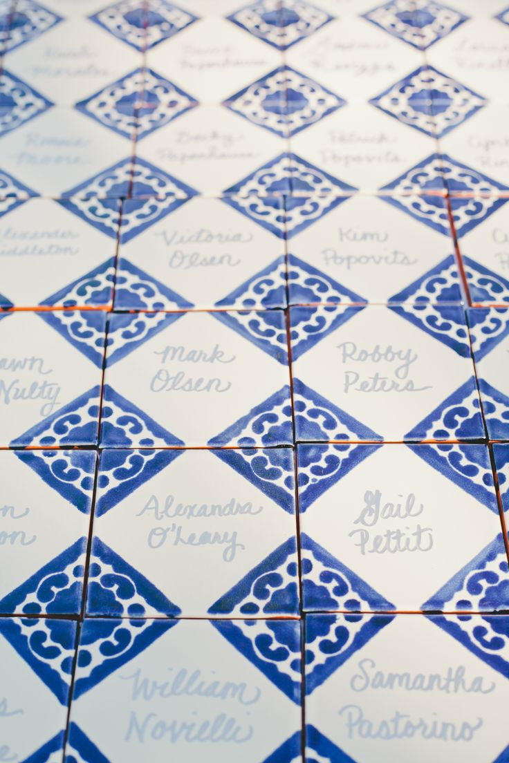Spanish Tile Escort Place Cards