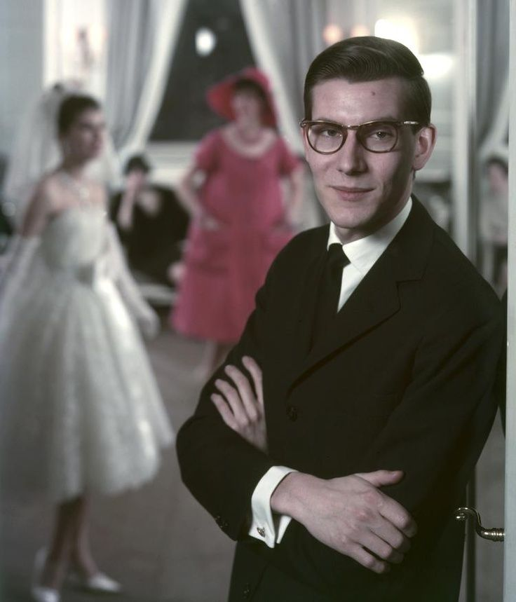 21 year old Yves Saint Laurent at the House of Dior, 1958.