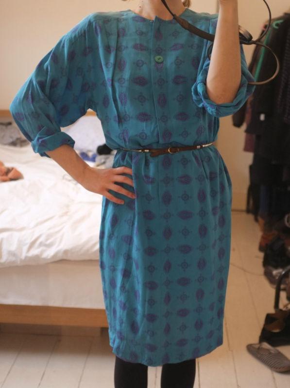 Liz Claiborne blue silk dress