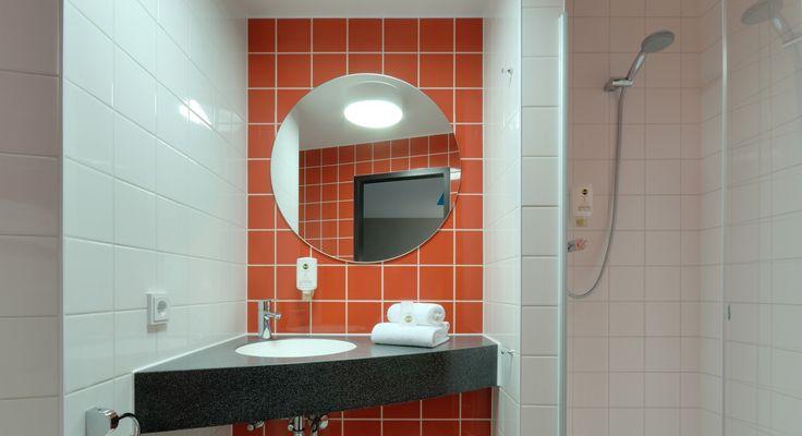 Badezimmer im B&B Hotel München City-West