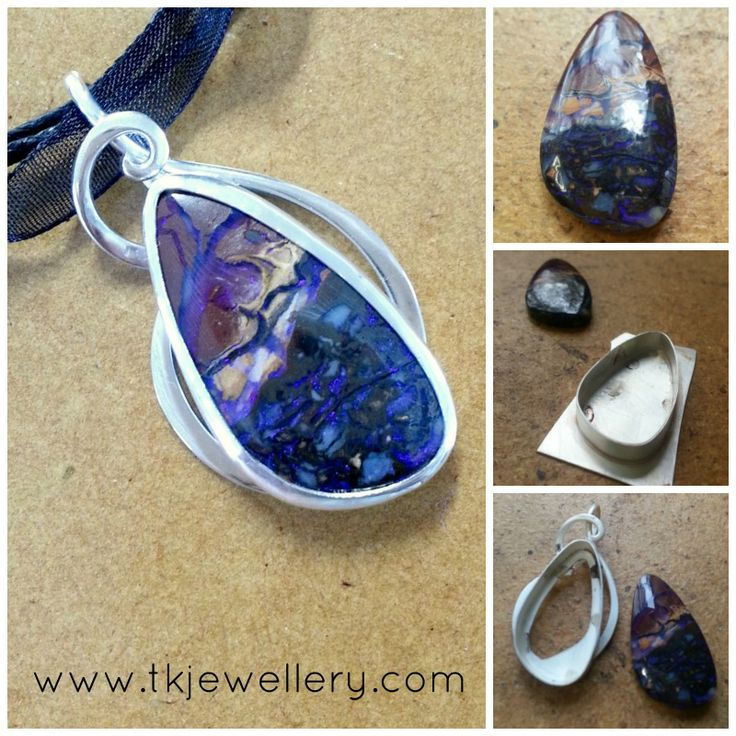 Handmade sterling silver pendant with stunning boulder opal. Simplistic but just stunning!