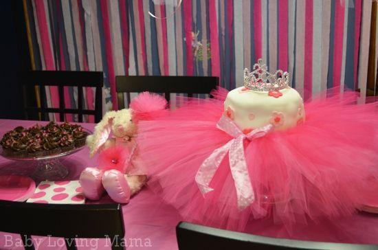 Cute Ballerina Tutu Birthday Cake Table