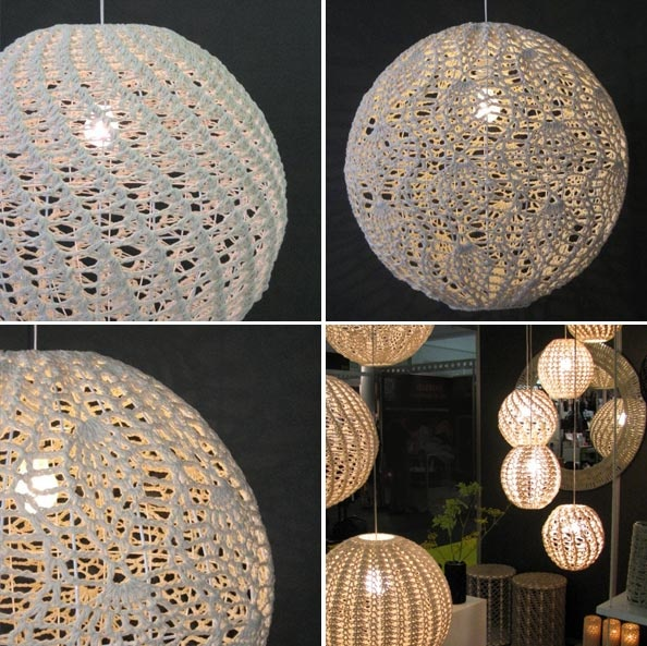 Crochet Lamps. If these aren't a little bit country and a little bit rock and roll, I don't know what is!