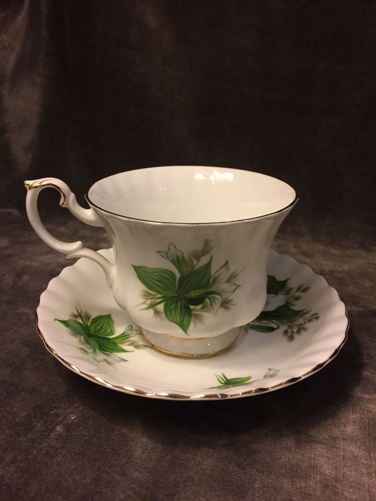 A personal favorite from my Etsy shop https://www.etsy.com/ca/listing/555923915/royal-albert-green-white-trillium-tea