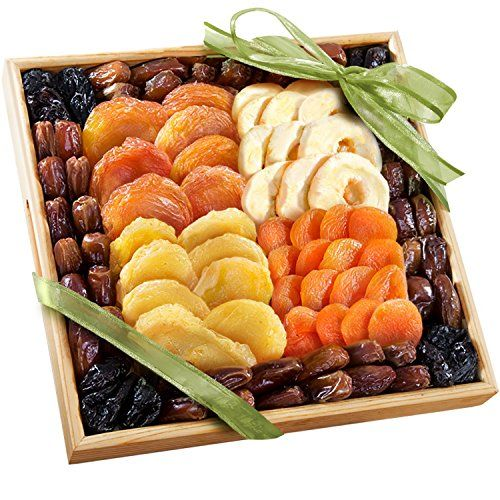 Dried Fruit Tray. Dried peaches, dried apples, dried pears and dried apricots. framed by buttery dates and pitted prunes. http://www.farmersmarketonline.com/driedfruit.htm