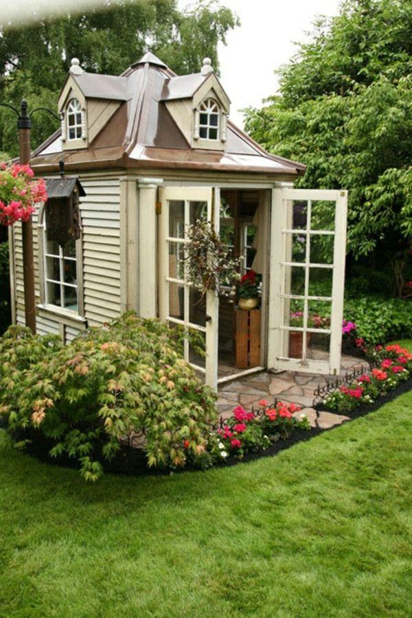Marvelous garten pavillon holz geranien