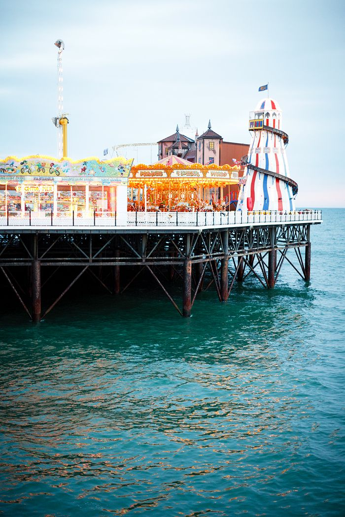 Amusement park on the pier: Brighton, England...how I loved to ride the Crazy Mouse Roller Coster then eat a battered sausage.