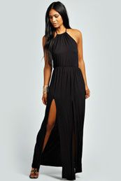 Serena Bagged Over Double Split Maxi Dress