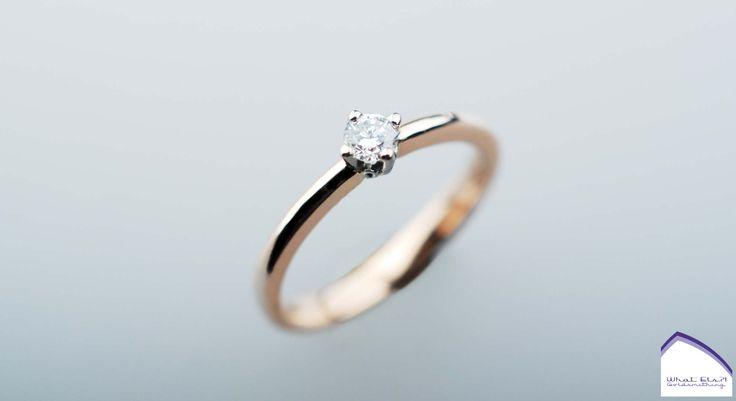 Rose gouden ring met geboorte diamant