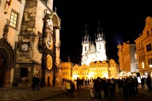 """This is a picture of Prague's Old Town Square where many tourists congregate and backpackers looking for a good time troll for hustlers selling sex, drugs, and whatever else. In """"Prague: You Got Knocked The Fuck Out"""" a public handjob from a gorgeous South African tourist almost becomes too much work in another hilariously epic story, that and others at http://whyamistillhere.com"""