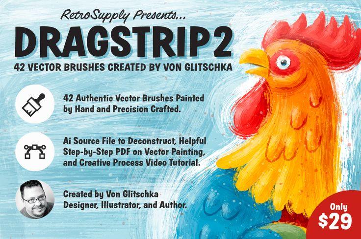 DragStrip 2 | Vector Brush Pack by Von Glitschka