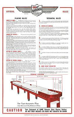 RESTORED-NATIONAL-SHUFFLEBOARD-TABLE-RULES-POSTERS-SET-OF-TWO                                                                                                                                                                                 More