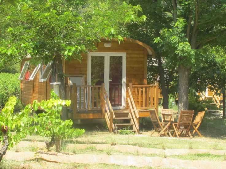 Think gypsy caravans are bit pokey? Think not, with this spacious gypsy caravan at Camping du Domaine d'Anglas, Brissac, Hérault - Pitchup.com