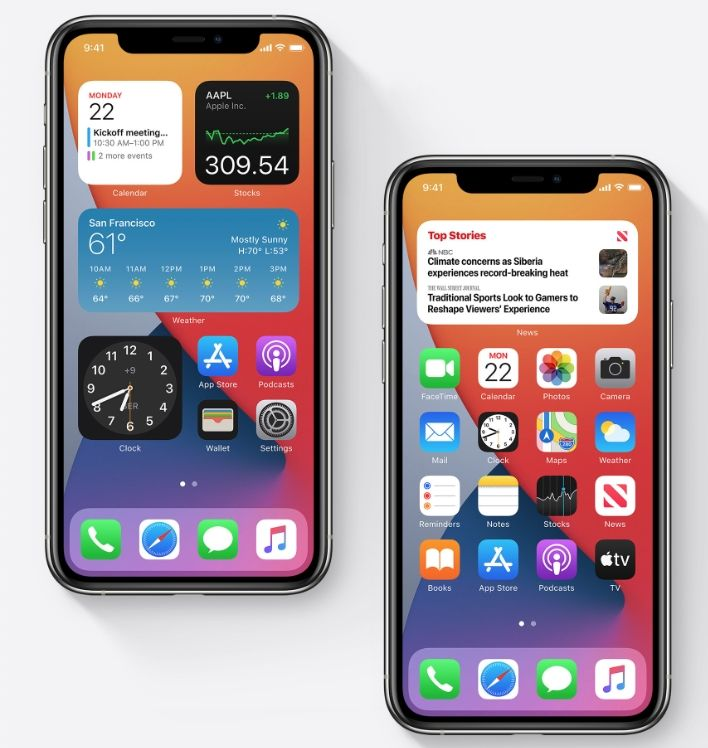 Apple Ios 14 Adds Back Tap Actions For Iphone Plus More Features Nabbed From Android In 2020 Iphone App Layout Iphone Apple Update