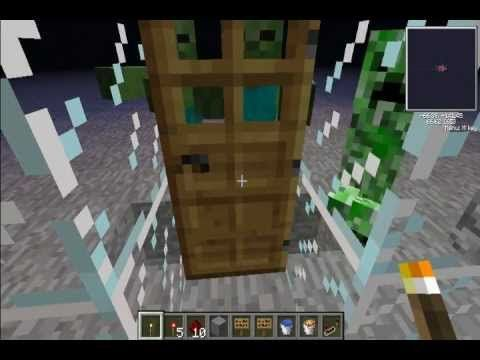 how to make a lava door in minecraft pe
