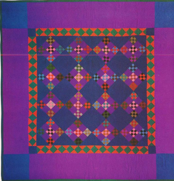 Double Nine-Patch, 1930. Amish. Lancaster Co, Pennsylvania. Stunning colors. I usually think of Lancaster Amish quilts having darker colors. But I love this.
