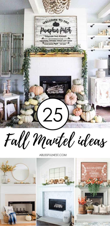 25 inspiring fall mantel decorating ideas top bloggers to rh pinterest com