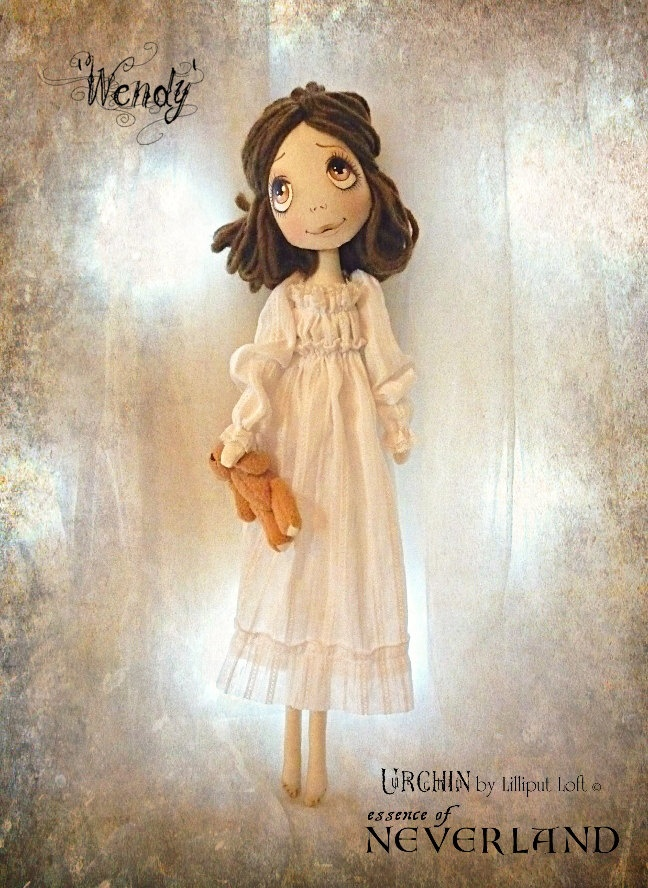 Art Doll OOAK - Wendy Urchin essence of Neverland