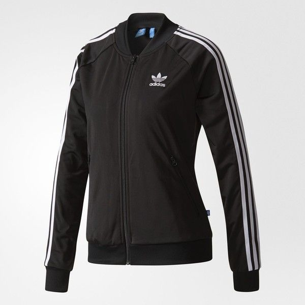 adidas Superstar Track Jacket - Black   adidas US ($70) ❤ liked on Polyvore featuring activewear, activewear jackets, adidas, track jacket, warm up jackets, track top and tracksuit jacket