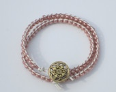 Designer inspired wrap bracelet