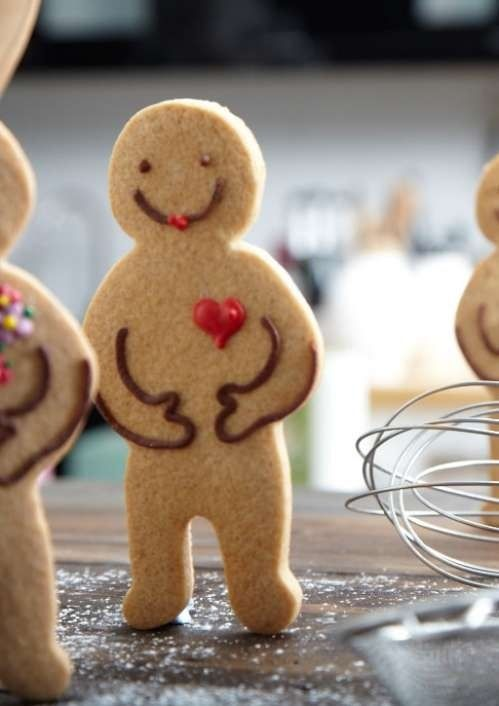 gingerbread man with a heart