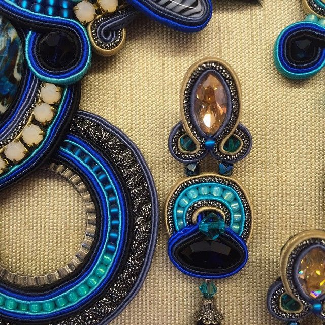 Strong blue colors with Icarus collection. #doricsengeri #blue #earrings #jewelry #design #turquoise