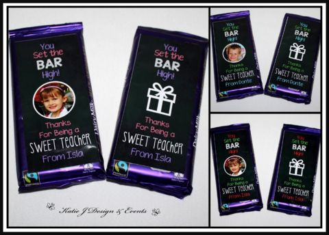 #Katie #J #Design #And #Events #Labels #Teacher #Appreciation #Gifts #Presents #Friendship #Graduation #cadbury #Labels #Chocolate #Bar Wrappers