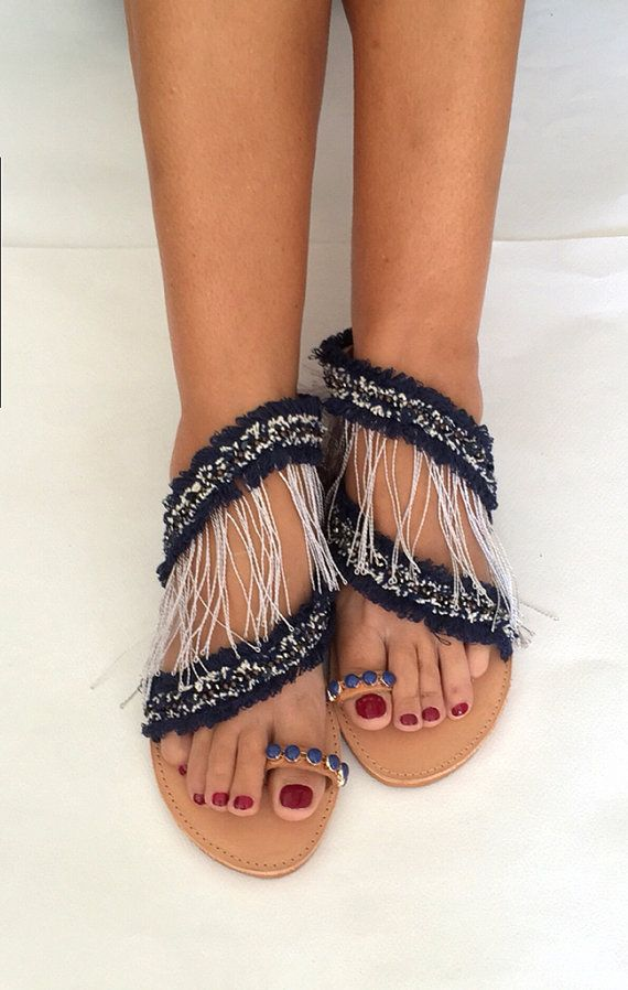 Handmade Leather Sandals ''Sea Breeze'' by BohemianFootprints