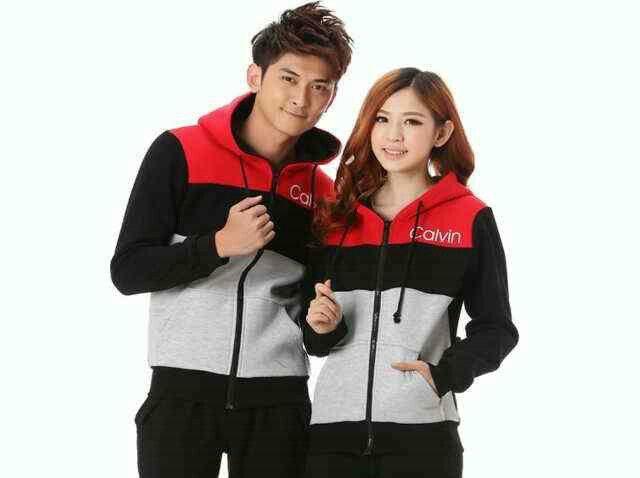 Couple jacket calvin,  hrg 117rb@sepsg, bhn babyterri, ld 100 pj 63, cwo 104 pj 70, ada kantong+hoodie, fit L