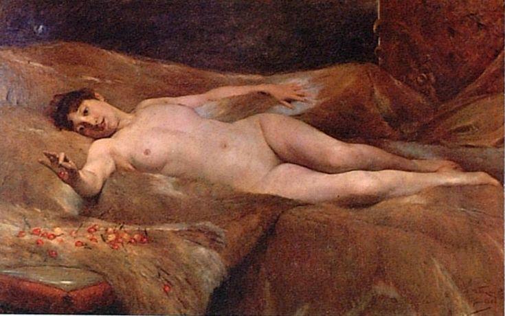 La ninfa de las cerezas - Alfredo Valenzuela Puelma (1856 -1909)