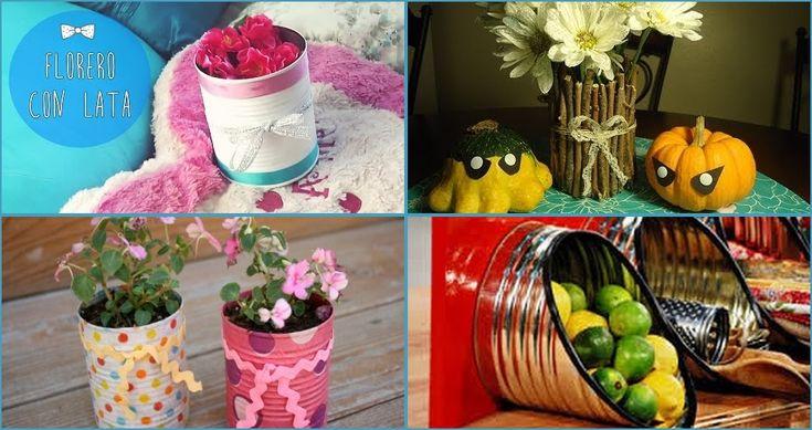 Una de las ideas más fáciles para reciclar latas es convertirlas en floreros, pero hay muchas más opciones. ¡Entra y anota más de 30 ideas!