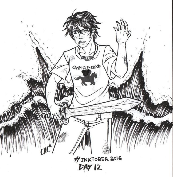 Inktober2016 - Day 12 - J is Jackson Percy by Valaquia.deviantart.com on @DeviantArt