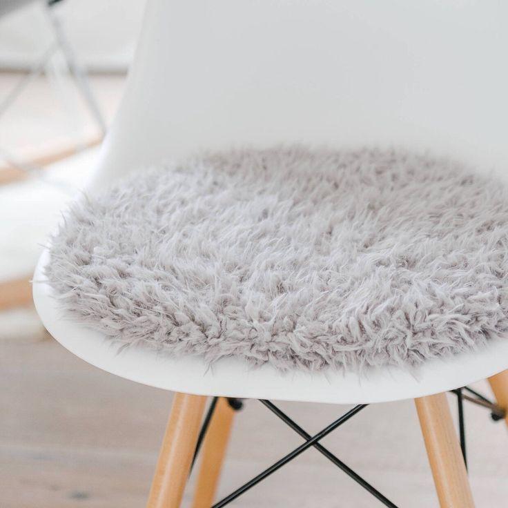 stuhlkissen fr eames chair in hellgrau limitiert - Eames Chair Sitzkissen