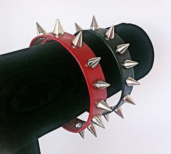Leather Spiked Strap Bracelet with 10mm  Spikes!  SUPER SOFT LEATHER